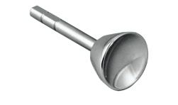 假体材质为钴铬钼合金,骨水泥固定、假体柄长50mm,柄直径5mm,假体头直径20mm,假体头高度9mm。