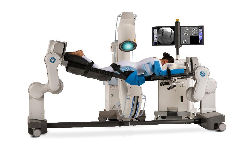 双柱设计、全碳纤维床面、最适合腰椎手术的专用手术床